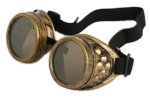 brass colored goggles